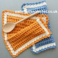 Cotton Dishcloth ~ Patterns For Crochet