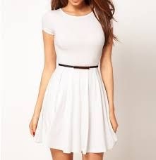 Find the best selection of ASOS Skater Dress with Cap Sleeves. Shop today with free delivery and returns (Ts&Cs apply) with ASOS! Dresses For Teens, Cute Dresses, Beautiful Dresses, Casual Dresses, Short Sleeve Dresses, Summer Dresses, Prom Dresses, Beautiful Beautiful, White Skater Dresses