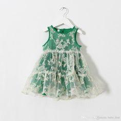 2015 Girls Lace Embroidered Dresses Kids Vintgae Sleeveless Floral Gauze Princess Party Dress Children's Vest Fairy Dress Pleated Tutu, $11.11   DHgate.com
