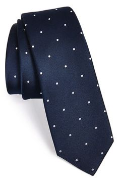 The Tie Bar Silk Satin Dot Tie at Nordstrom.com. A pin-dot grid styles a traditional silk tie updated in a slim, modern cut.