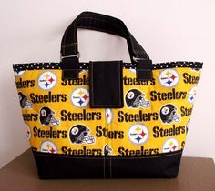 NFL Pittsburg Steelers Tote or Custom Made by LynnpatriciaDesigns - StyleSays