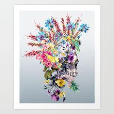Punk Portrait Art Print by RIZA PEKER - $17.00