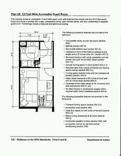 28 CFR Appendix B to Part 36 - Analysis and Commentary on the 2010 ADA Standards for Accessible Design Guest Bed, Guest Room, Ada Guidelines, Schematic Drawing, H Hotel, Aging In Place, Room Planning, Hospitality Design, Layout