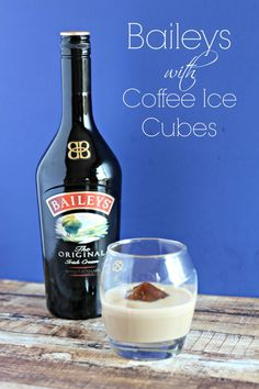 Simple Baileys with coffee ice cube drink idea using a 20 sided dice ice mold. Easy to customize to any ice mold style you want.