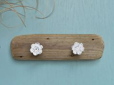 Hanging Driftwood Hook Shabby Chic Beach House by ElaLakeDesign, $28.00