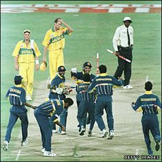 The second biggest upset ever in a world cup final. SL v. Aus, '96.