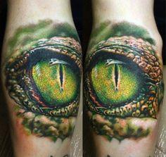 16 Ferocious Crocodile and Alligator Tattoos