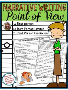Prior to requiring students to write a narrative, it is imperative that they know its structural components. This mini unit will help your students understand the purpose of the three main points of view: First Person, Third Person Limited and Third Person Omniscient.  https://www.teacherspayteachers.com/Product/NARRATIVE-WRITING-POINT-OF-VIEW-2886584