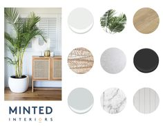 Creating a Modern Coastal Colour Palette — Minted Interiors Coastal Color Palettes, Coastal Colors, Coastal Bedrooms, Coastal Living Rooms, Modern Coastal, Coastal Interior, Coastal Style, Mood Board Interior, Bussiness Card