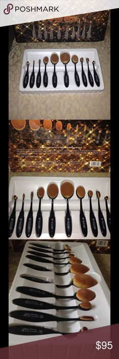 Anastasia Beverly Hills 10 piece Oval Brush Set Anastasia Beverly Hills 10 piece…