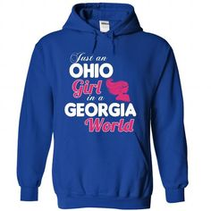An OHIO-GEORGIA girl Pink04 - #tee pee #sweatshirts. GET YOURS => https://www.sunfrog.com/States/An-OHIO-2DGEORGIA-girl-Pink04-RoyalBlue-Hoodie.html?68278