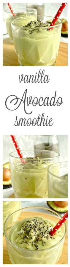 Mean and Green and DELICIOUS! A Vanilla Avocado Smoothie that tastes like a milkshake but still packs a nutritional punch! | savoringsimple.com