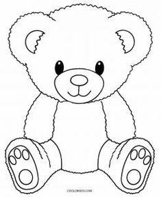 baby teddy bear Printable Teddy Bear Coloring Pages For Kids Teddy Bear Coloring Pages, Easy Coloring Pages, Cartoon Coloring Pages, Coloring Pages To Print, Coloring Books, Kids Coloring, Coloring Sheets, Teddy Bear Outline, Teddy Bear Template
