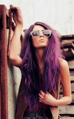 Omg. I want!      HAIR CHALK Dark Purple // Temporary Hair Color // by SalonChalks, $1.99