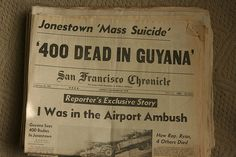1978 Jonestown Massacre ~ Guyana,The Jonestown Massacre shocked the world. On November 18, 1978, Jim Jones, the leader of the Peoples Temple cult, instructed his followers to commit suicide.