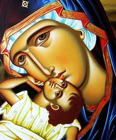 The Theotokos. Beautiful Orthodox Christian icon of the Theotokos / the Virgin Mary / Mother of God.