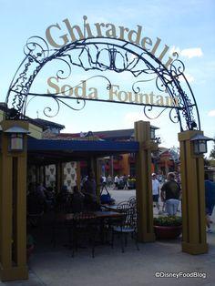 Ghirardelli Soda Fountain Downtown Disney, Orlando Disney Vacation Club, Disney World Florida, Walt Disney World Vacations, Florida Vacation, Best Vacations, Disney Trips, Disney Parks, Nassau, Downtown Disney Orlando