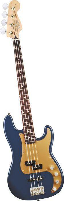 Fender Deluxe P Bass Special 4-String Bass Navy Blue Metallic Rosewood Fretboard #bassguitar