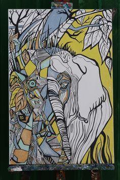 Elefante-wildlife#print #elephant #canvas