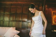 Bride wears a wedding dress by Rembo Styling   Photography by http://www.weheartpictures.com/