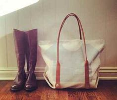 Suspenders Tote + Boots