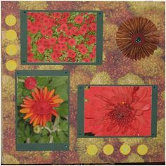 The Flowers of Fall Scrapbook Layout