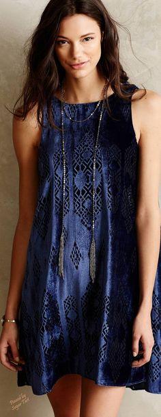 Boho Velvet Dress