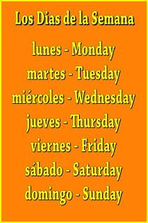 days of the week in spanish | Spanish Benchmark: How to Say the Days of the Week in Spanish.