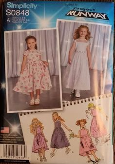 Simplicity Pattern S0848 / 1173 size 3-8 Child's dress in 2 lengths 6 styles FS