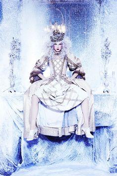 Snow Queen Vodka Calendar by Ellen von Unwerth