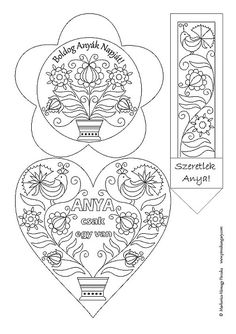 "Képtalálat a következőre: ""fejlesztő lap pdf"" Pattern Coloring Pages, Coloring Pages To Print, Free Coloring Pages, Coloring Books, Kindergarten Art Lessons, Spring Crafts For Kids, Dad Day, Folk Embroidery, School Decorations"
