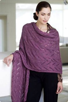 """S. Charles Padma """"Pashmina"""" Wrap - free pattern"""