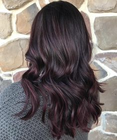 45 Shades of Burgundy Hair: Dark Burgundy, Maroon, Burgundy with Red, Purple and Brown Highlights Very Subtle Burgundy Brown Balayage Ombre Hair Long Bob, Ombre Hair Color, Hair Color Balayage, Balayage Brunette, Blonde Brunette, Red Brown Hair, Brown Hair Colors, Dark Hair, Reddish Brown
