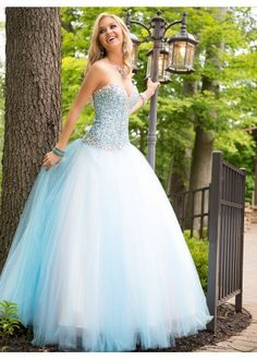 58-1 Cool Collection by Alyce is a stunning ballgown that will make any girl feel like a princess at her prom! The all over gemmed sweetheart, strapless bodice flows into a mutli layer tulle ballgown skirt. #mestadsprom #alycedesign #coolcollection