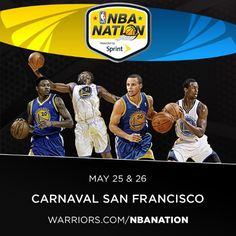 Stephen Curry, Harrison Barnes, Festus Ezeli and Kent Bazemore will be at NBA Nation this weekend at Carnaval San Francisco. Visit warriors.com/nbanation for full details of the two-day admission free event.