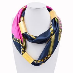2016 New Arrival Silk Necklace Long Scarf Necklace Solid Colors Gold-plated Decorative Soft Scarves Accessories Trendy Women //Price: $25.98 & FREE Shipping //     #hairextension #style #beauty #woman #love