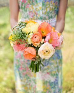 Summer Poppy Bouquet by Holly Flora, Steve Steinhardt Photography