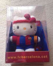 Rare Hello Kitty x FC Barcelona Plush Doll Sanrio Japan Limited Stuffed Mint New