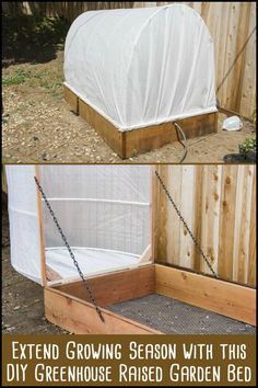 This greenhouse and raised garden bed combo allows you to grow garden produce, while keeping them protected all year around.