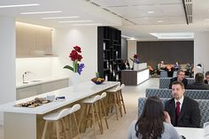 Client lounge at Colliers International London Headquarters.