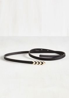Subtly Stunning Belt in Black. When you outfit is almost on-point, you use this black belt as a fab finishing touch, pushing the limits of ensemble loveliness! #black #modcloth