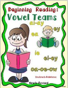 Beginning Reading! -Vowel Teams by Essential Reading- Language Skills