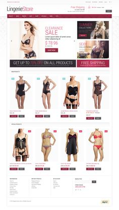 Magento Template , Fancy Lingerie