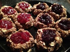Thumbprint Cookies - vegan and mostly raw - Raw dessert recipes!  Follow these and more raw vegan diet recipes at: http://hcgwarrior.com/vegan-vegetarian-recipes.html  Change your eating habits, change your life!