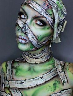 Trendy makeup looks halloween make up Mummy Makeup, Scary Makeup, Fx Makeup, Cosplay Makeup, Costume Makeup, Makeup Ideas, Amazing Halloween Makeup, Halloween Makeup Looks, Halloween Face