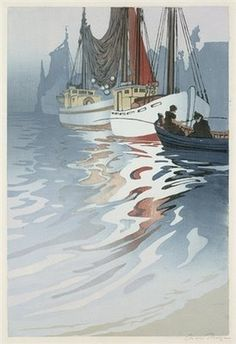 Tagged with art, landscape, woodcut, printmaking, illustrationstation; Shared by IllustrationStation. Woodcut art by Oscar Droege Woodcut Art, Boat Art, Art Pictures, Photos, Japanese Prints, Wood Engraving, Woodblock Print, Printmaking, Graphic Art