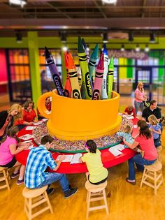 Cross the Crayola Experience™ off your kids' travel wish list – preferably with shades of Marvelous or Electric Lime. This interactive discovery cen Crayola Factory, Hight Light, Design Commercial, Kids Indoor Playground, Kindergarten Design, Kids Play Area, Kids Zone, Kid Spaces, Toy Store