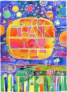 Thank You Todah Rabah blank cards от risaaqua на Etsy