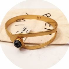 Madewell Bracelet - NWT Bangle Add to the armparty  Madewell bangle bracelet new with tags. Black and grey stone, bracelet slides open to allow for an ease of fit. Fair offers considered thank you for looking  Madewell Jewelry Bracelets