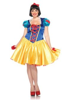 Plus Classic Disney Snow White Costume #halloween
